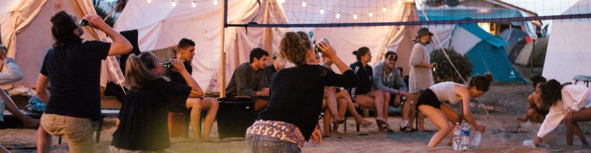 Tiendas glamping en surf camp Vieux Boucau