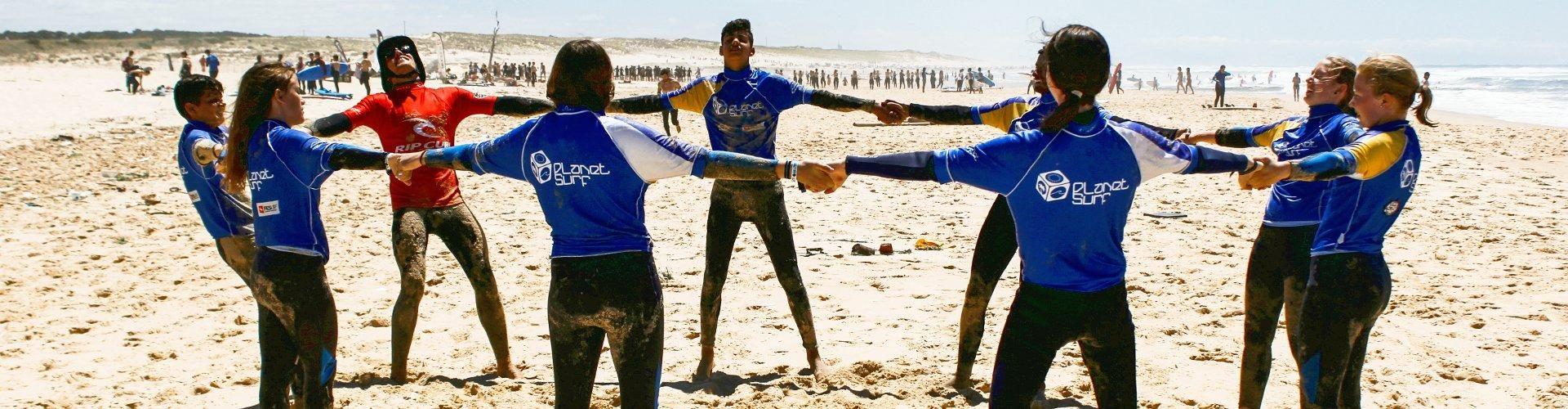 Cursos de surf juveniles en Francia