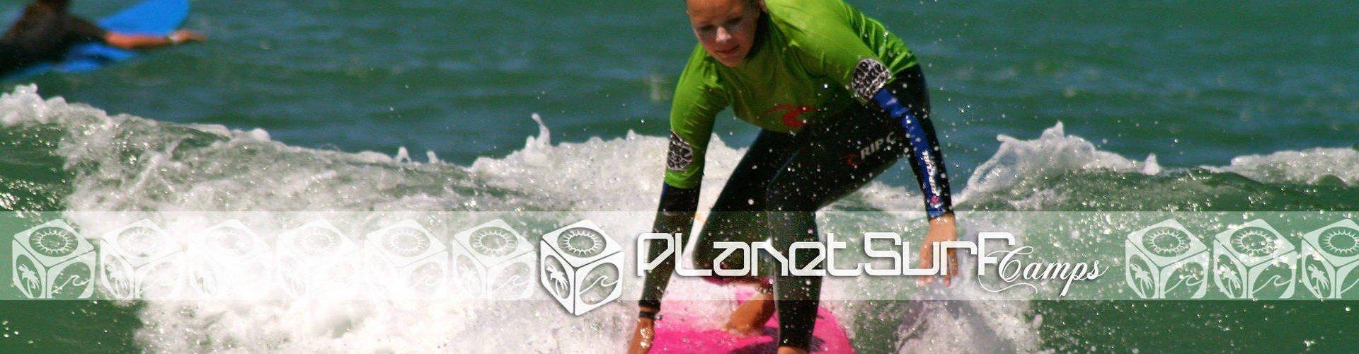 clase práctica de surf junior