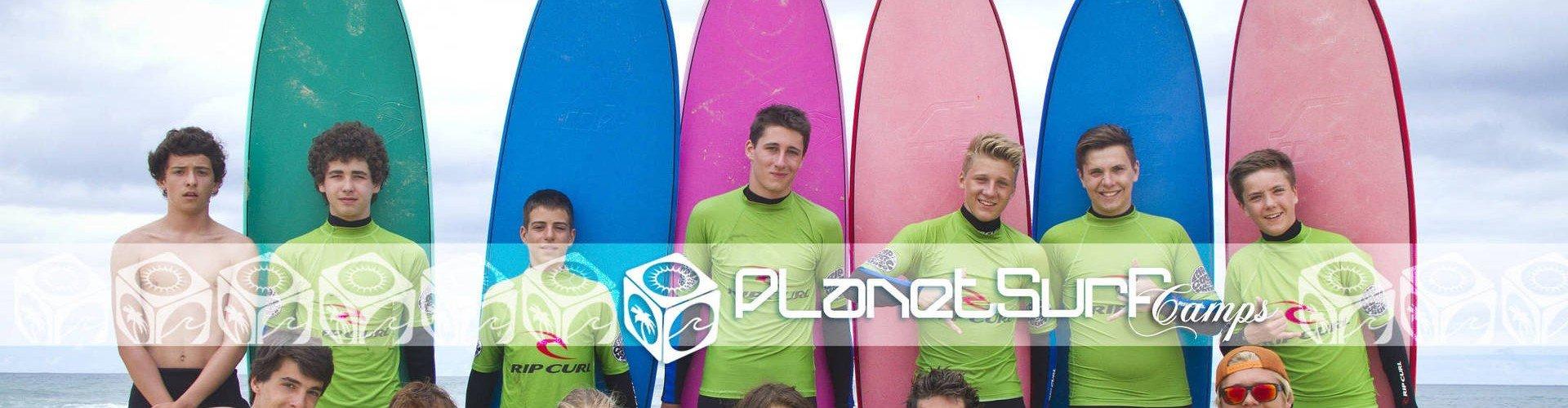 Curso de surf junior en Francia