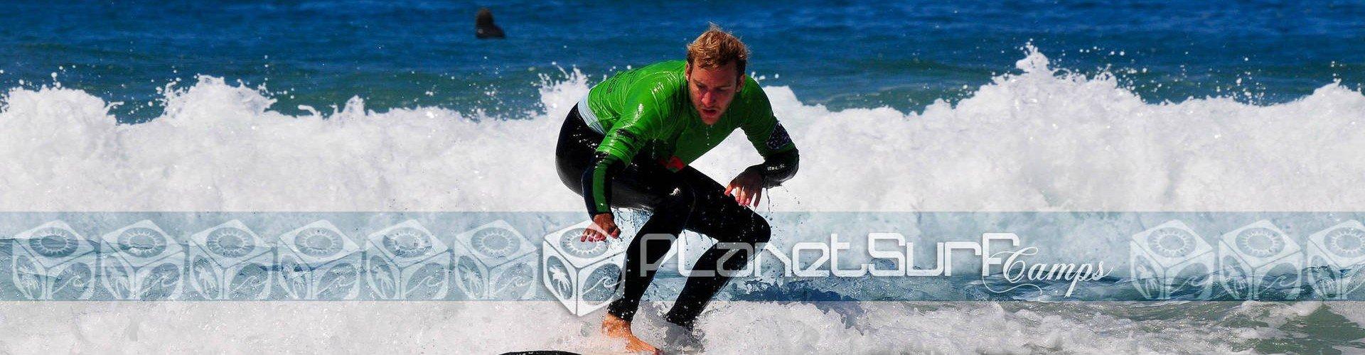 Práctica de surf en España