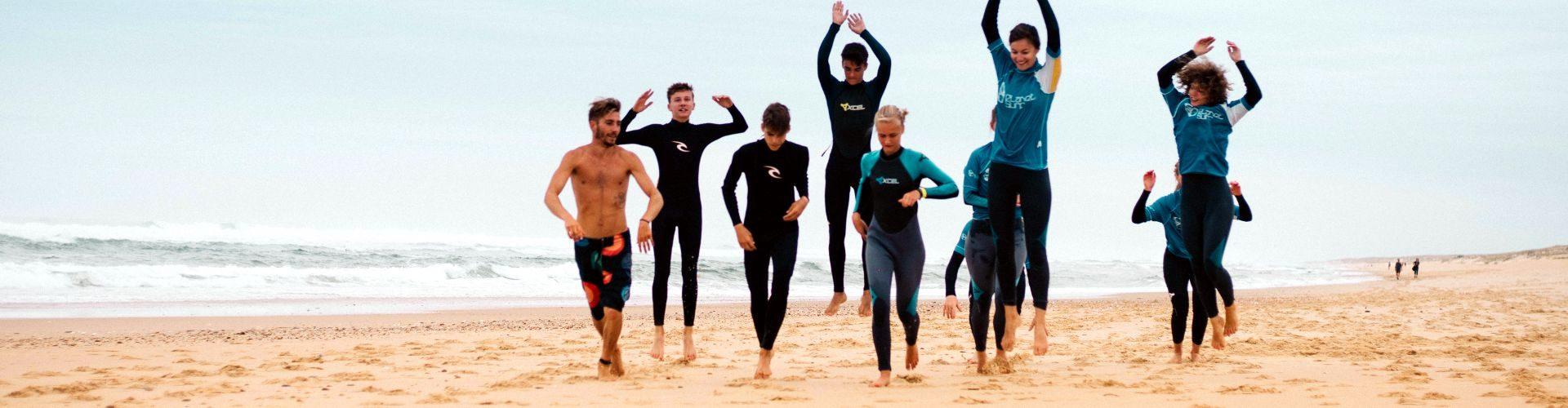 Cursos de surf en Las Landas