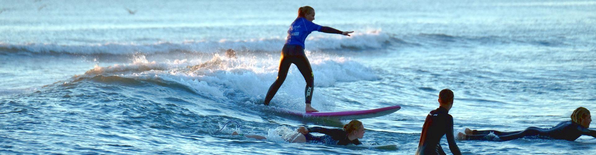 Escuela de surf en Francia